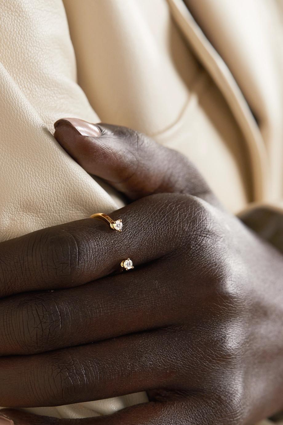 Delfina Delettrez 18-karat gold diamond ring
