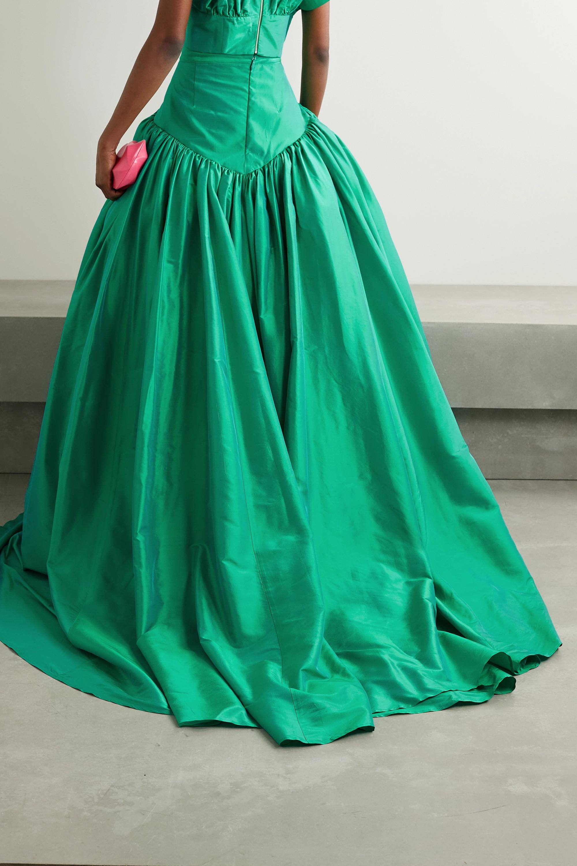 Christopher John Rogers Silk-taffeta maxi skirt