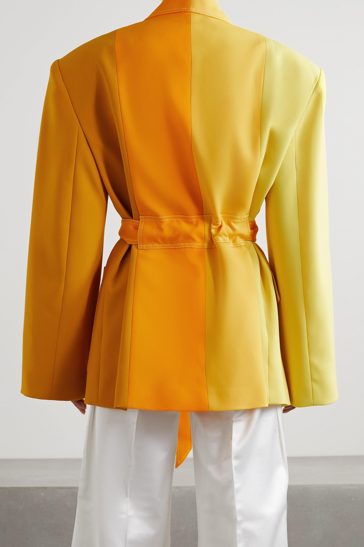 Christopher John Rogers Oversized belted color-block crepe blazer