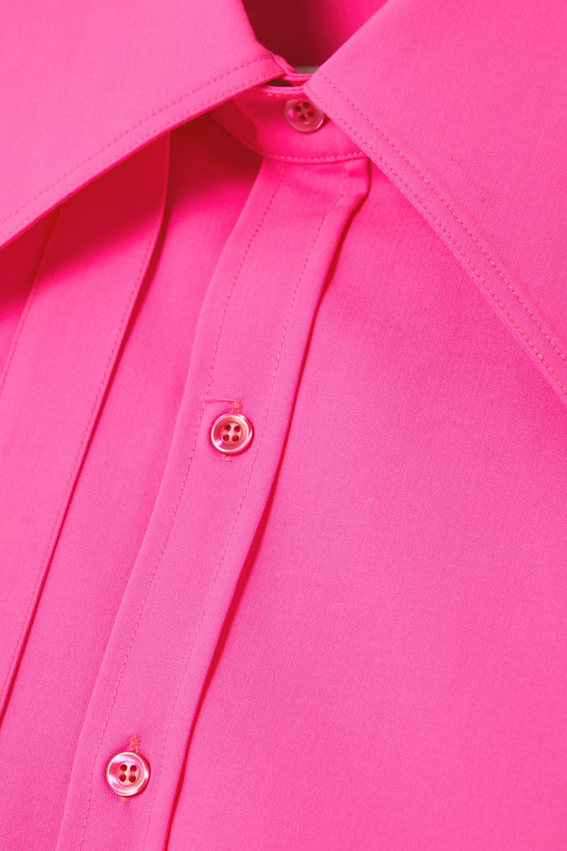 Christopher John Rogers Hemd aus einer neonfarbenen Wollmischung zum Binden