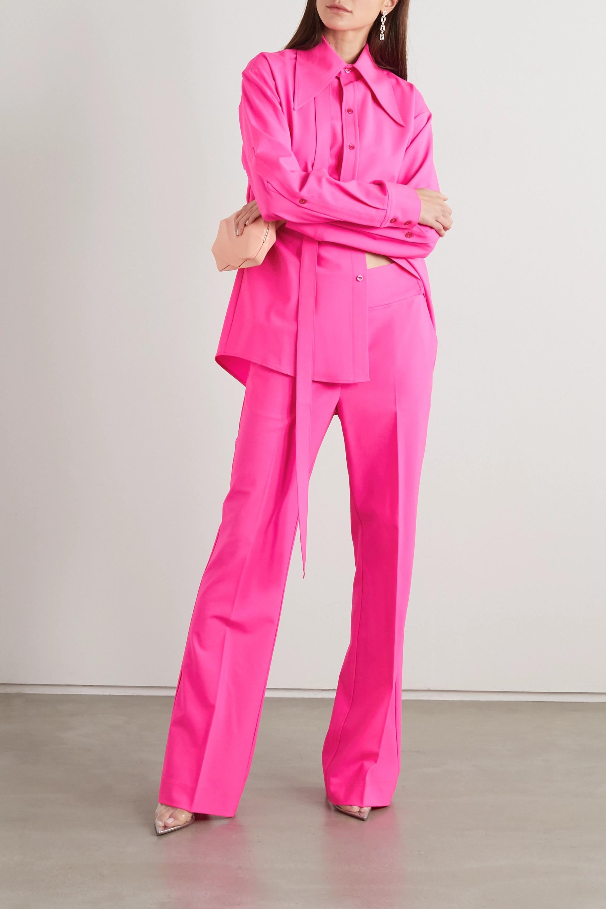 Christopher John Rogers Neon wool-blend pants