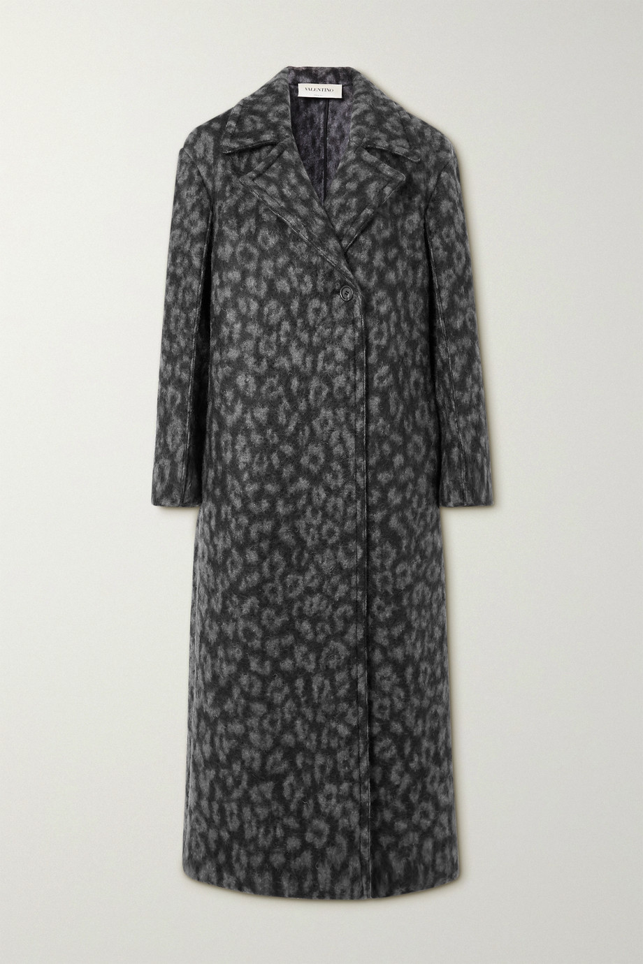 Valentino Manteau tissé à imprimé léopard