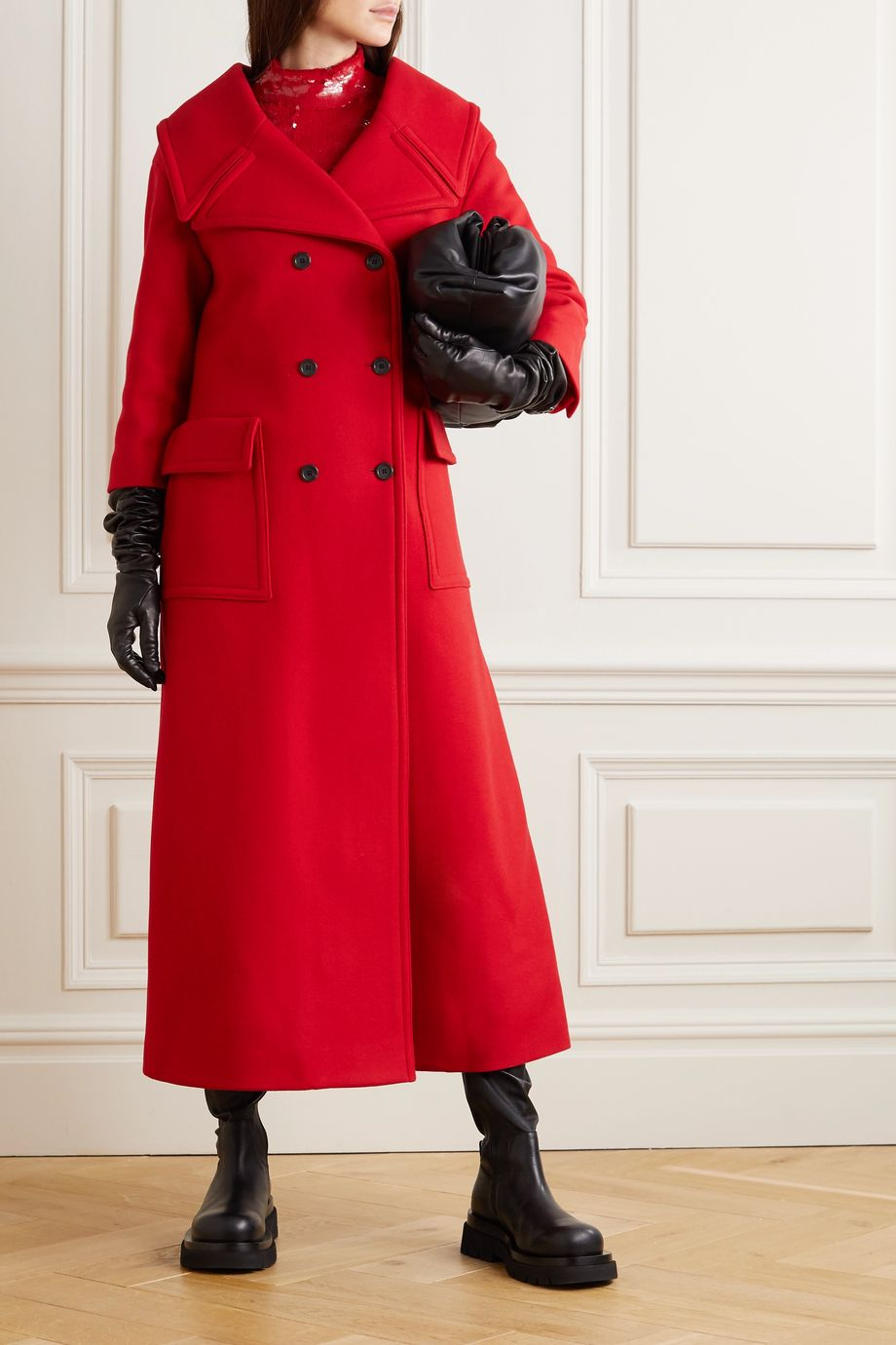 Valentino Double-breasted virgin wool-blend coat