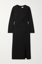 Valentino Wool-blend crepe midi dress
