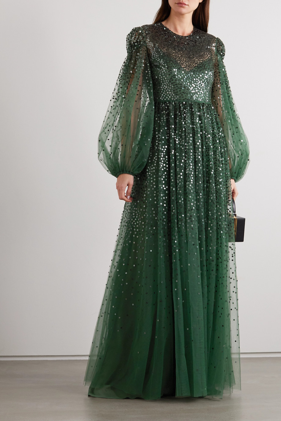 Valentino Sequin-embellished tulle gown