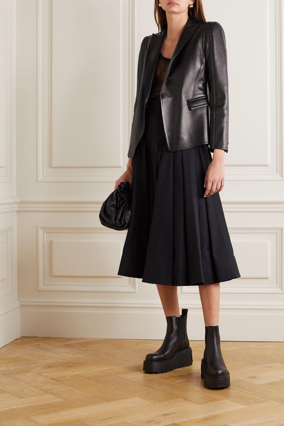 Valentino Leather blazer