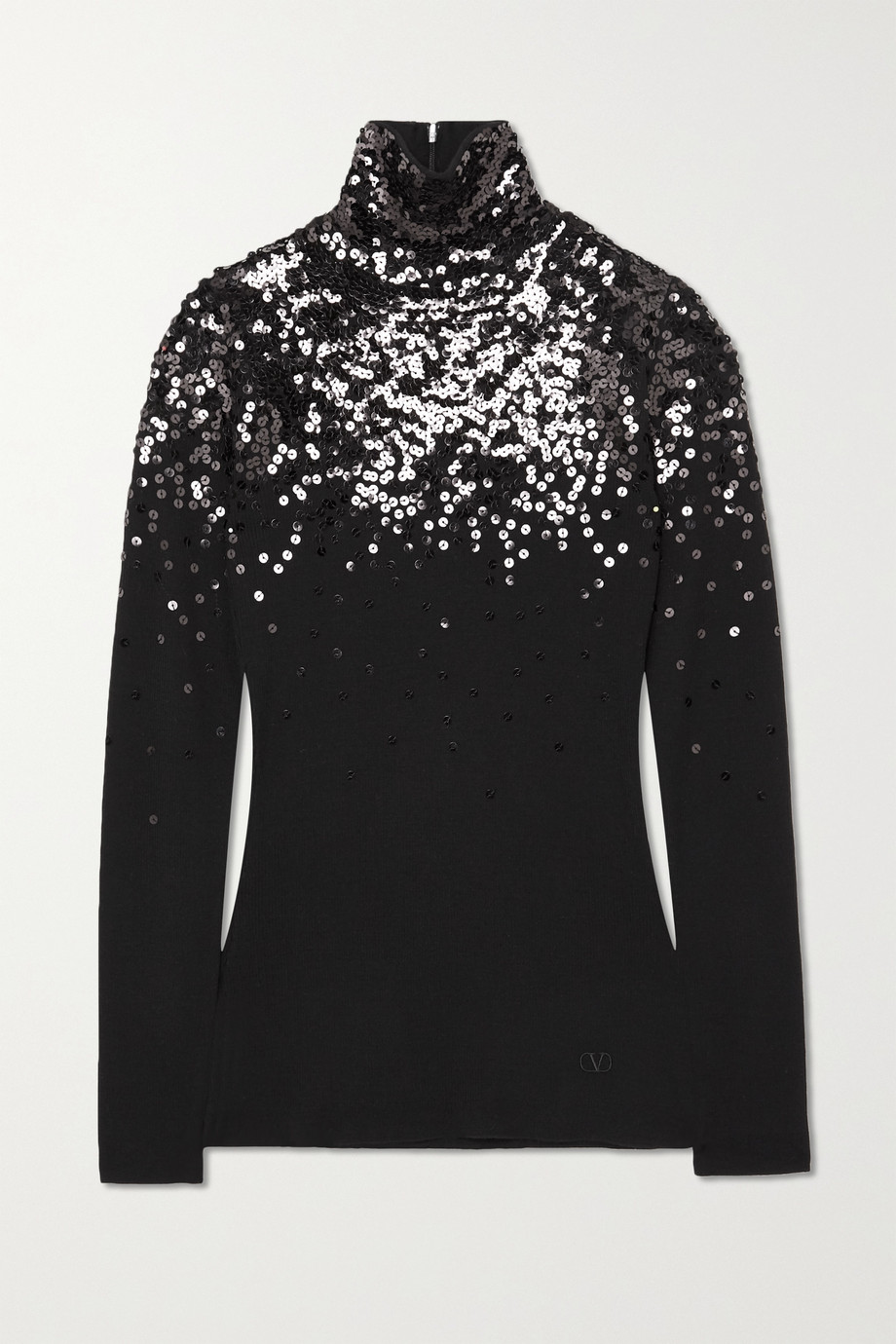 Valentino Sequin-embellished wool turtleneck sweater