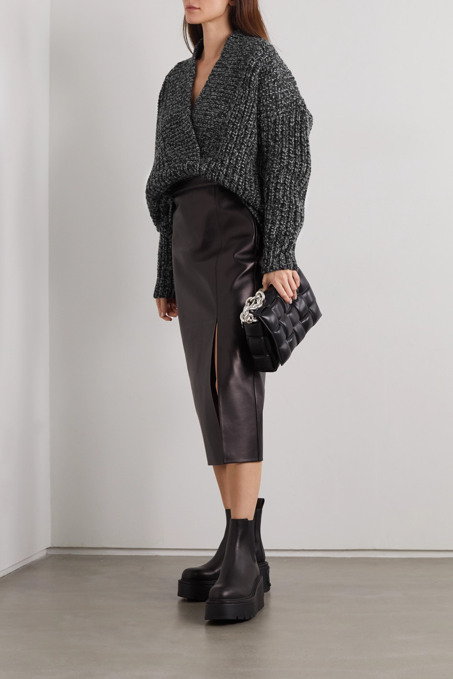 Valentino Oversized wool and cashmere-blend sweater
