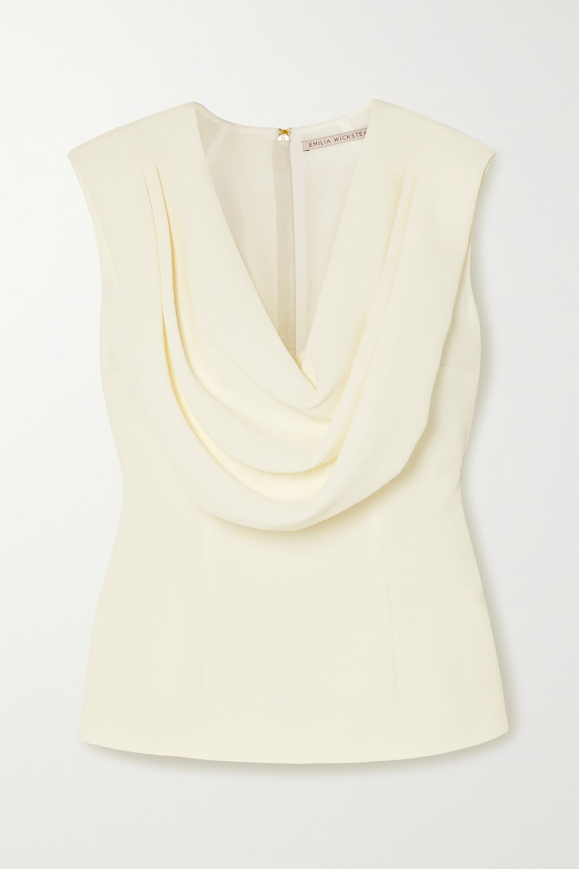 Emilia Wickstead Fleur draped crepe top