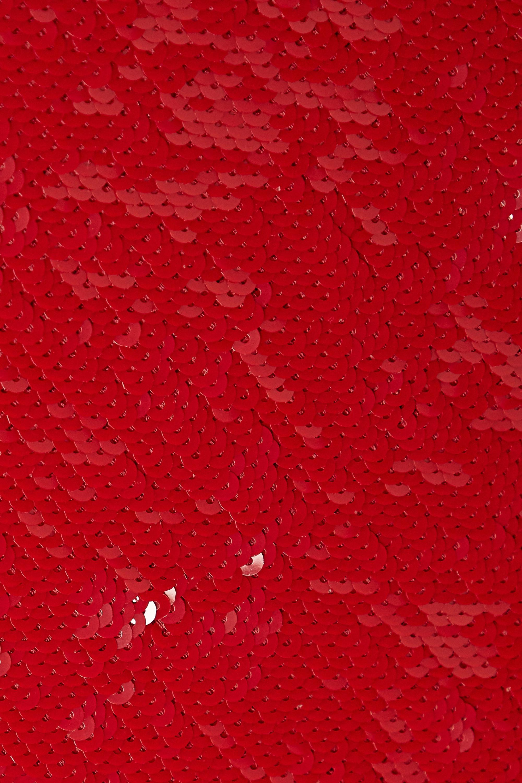 Valentino Sequined cotton-blend turtleneck top