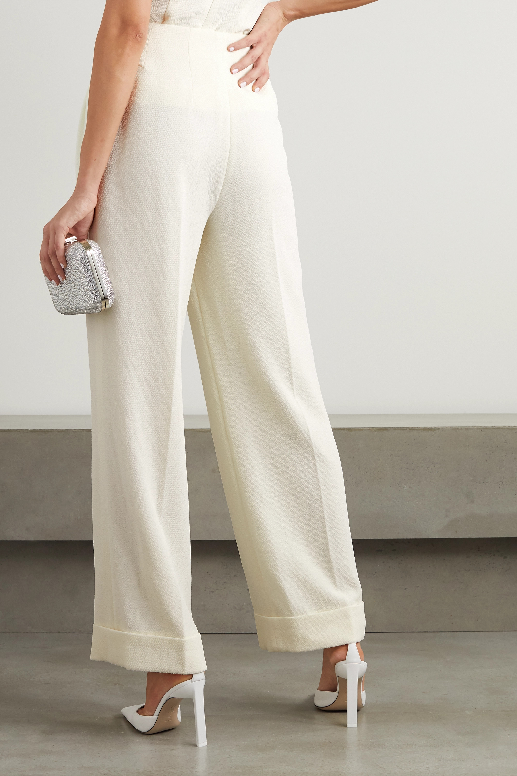 Emilia Wickstead Collen crepe wide-leg pants