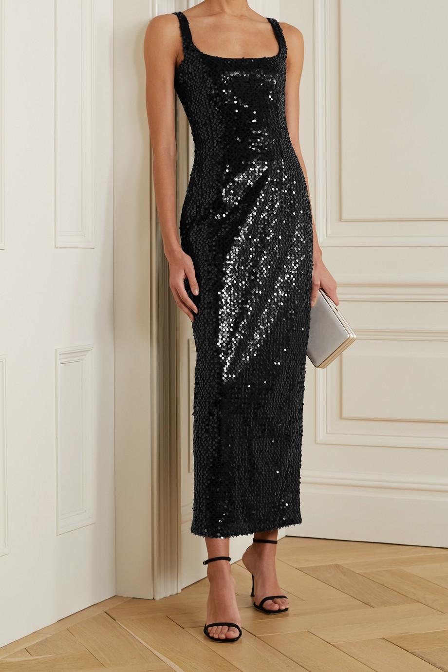 Emilia Wickstead Bassett Kleid aus Tüll mit Pailletten