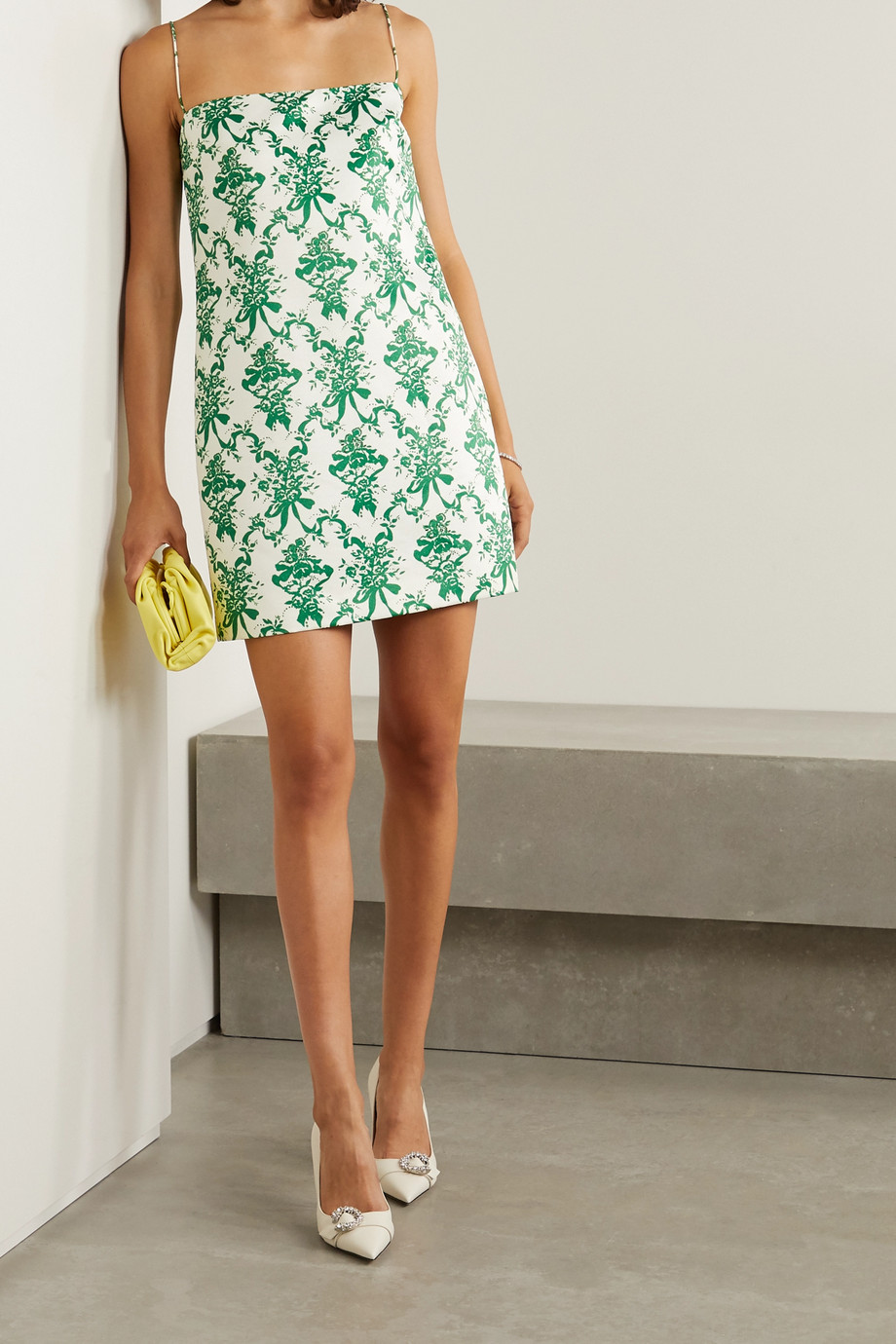 Emilia Wickstead Miu floral-print faille mini dress