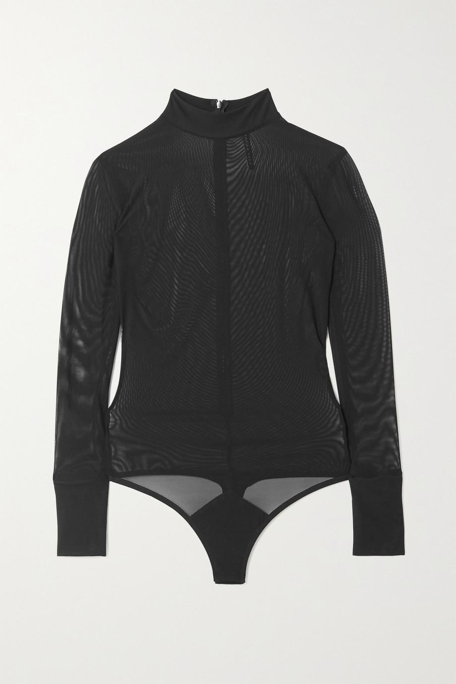 Marika Vera Jane stretch-tulle thong bodysuit