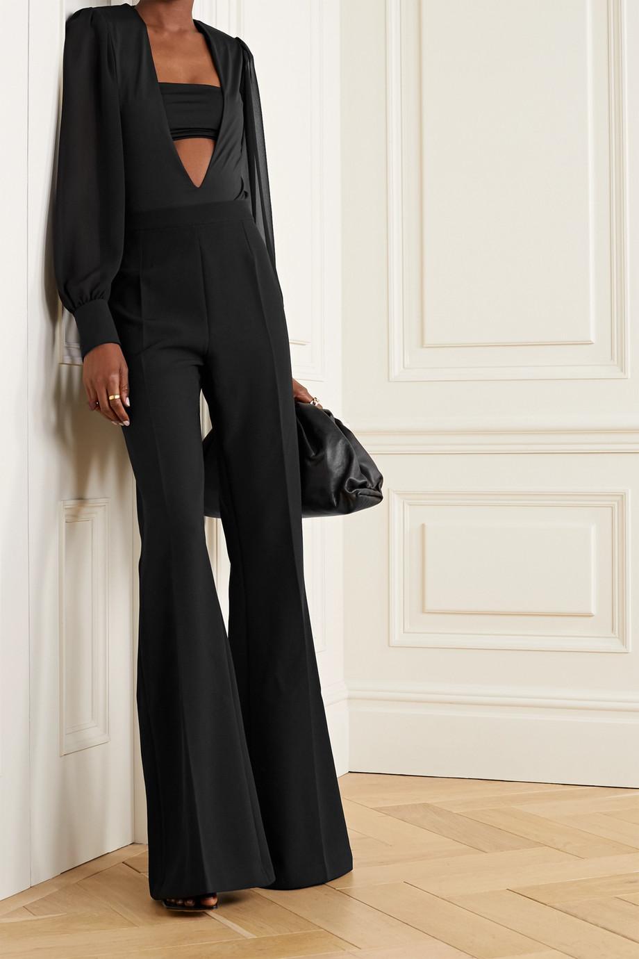 Marika Vera Hutton 分层式弹力平纹布雪纺绸连体丁字裤式紧身衣