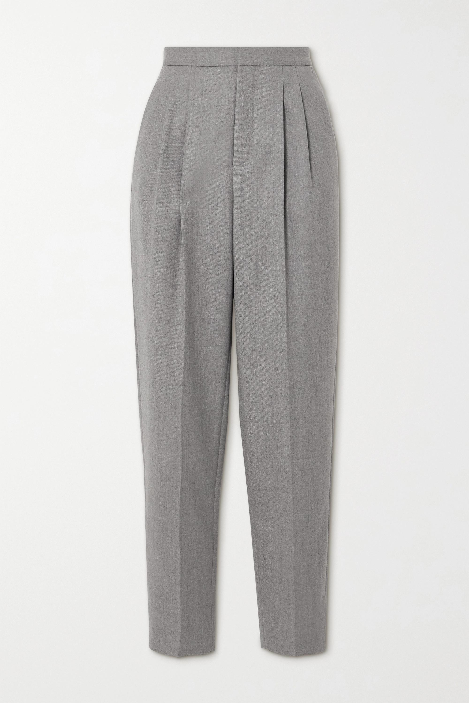 SAINT LAURENT Pantalon fuselé en serge de laine à plis