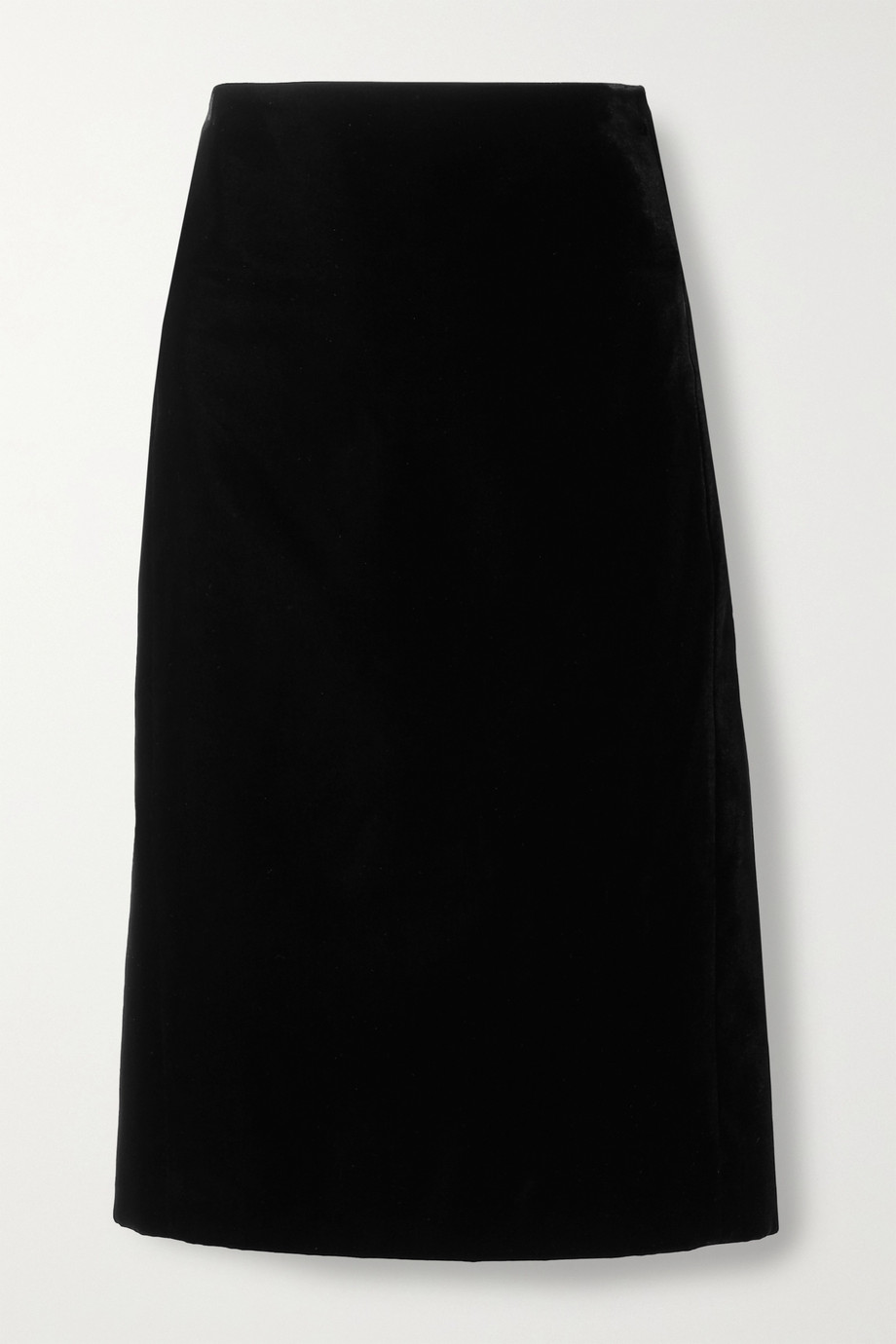 SAINT LAURENT Velvet pencil skirt