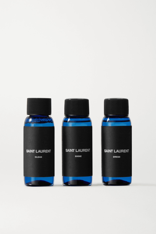 SAINT LAURENT Latex midi skirt + Latex Care cleaning kit 3 x 30ml bottles (Vividress, Vivishine, Viviclean)