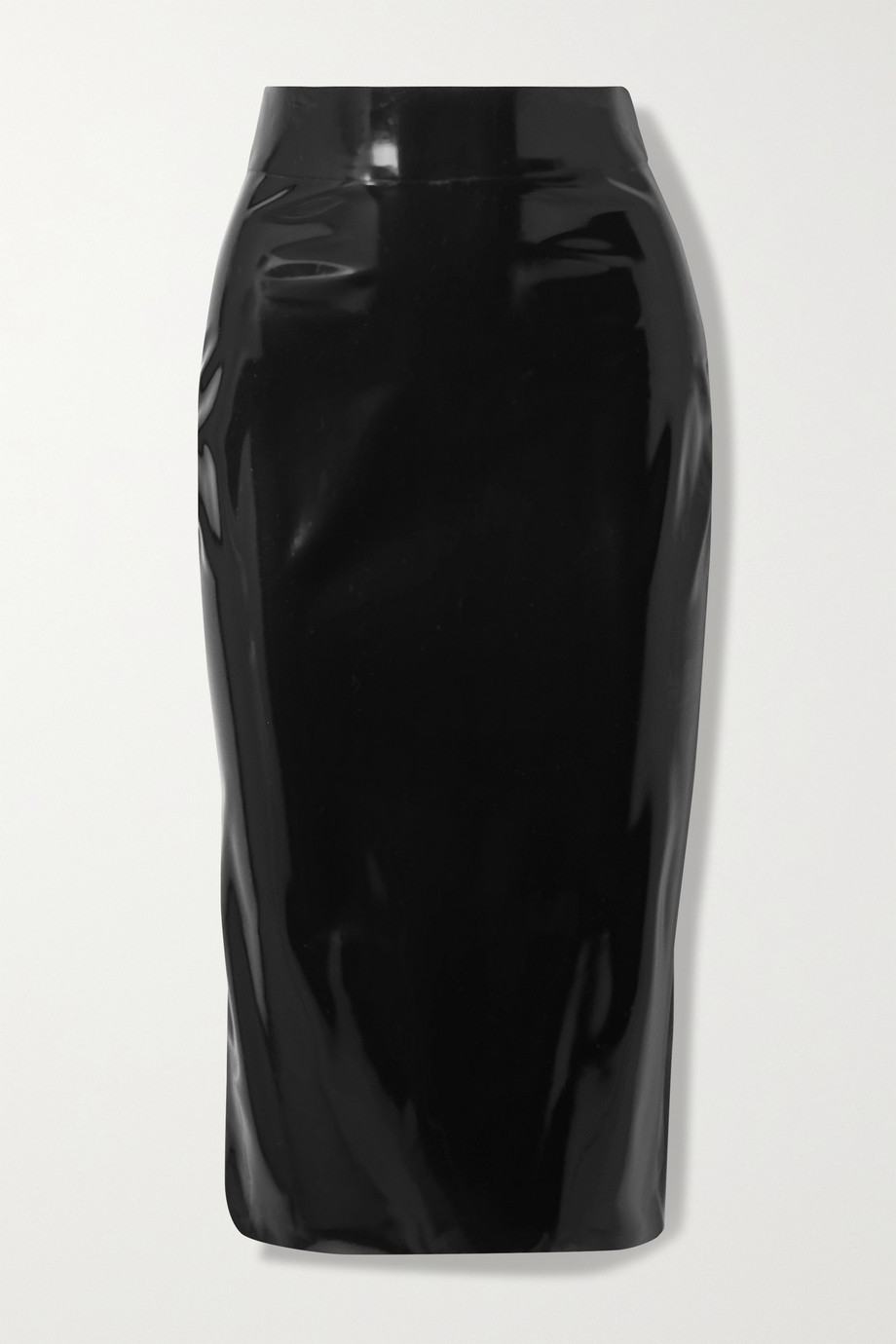 SAINT LAURENT Latex midi skirt + Latex Care cleaning kit 3 x 30ml bottles (Vividress, Vivishine, Viviclean)