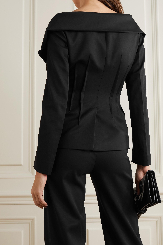 Altuzarra Darlene double-breasted wool-blend and stretch-silk blazer