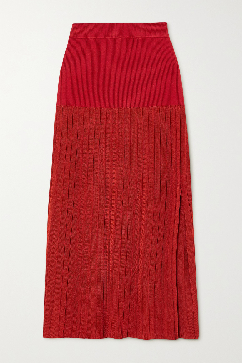 Altuzarra Dean pleated stretch-knit midi skirt