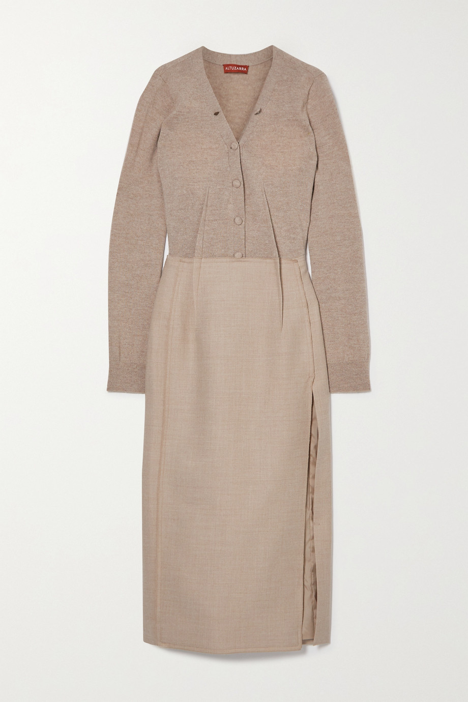 Altuzarra Arlene mélange wool-blend midi dress