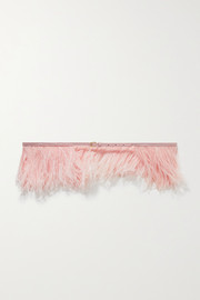 Altuzarra Feather-embellished leather belt