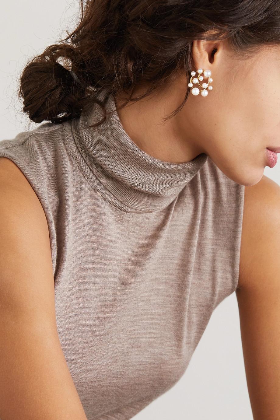 Ippolita Nova 18-karat gold pearl earrings