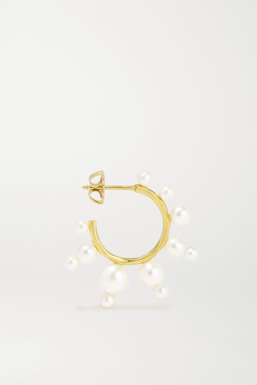 Ippolita Nova Creolen aus 18 Karat Gold mit Perlen