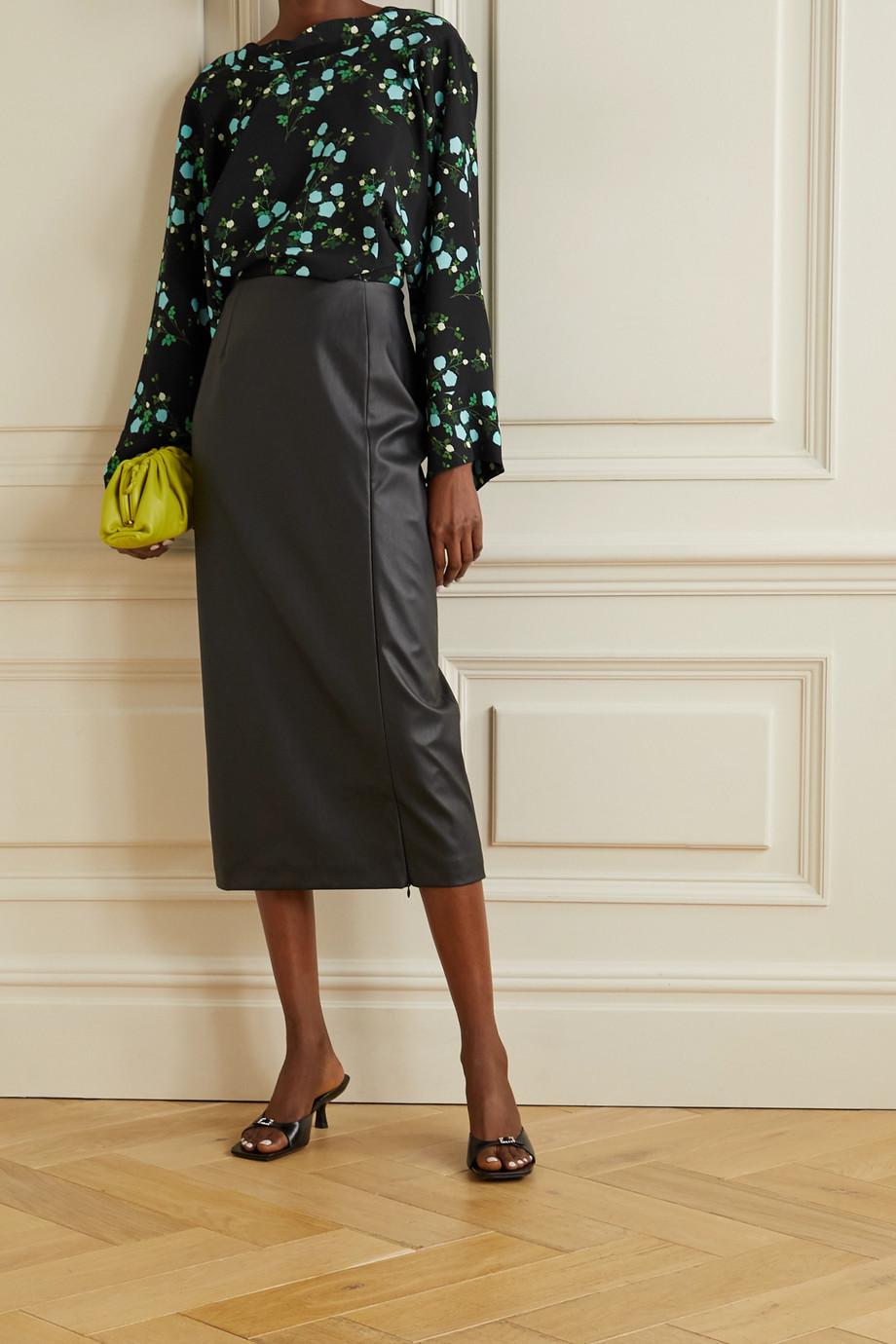BERNADETTE Norma floral-print crepe blouse
