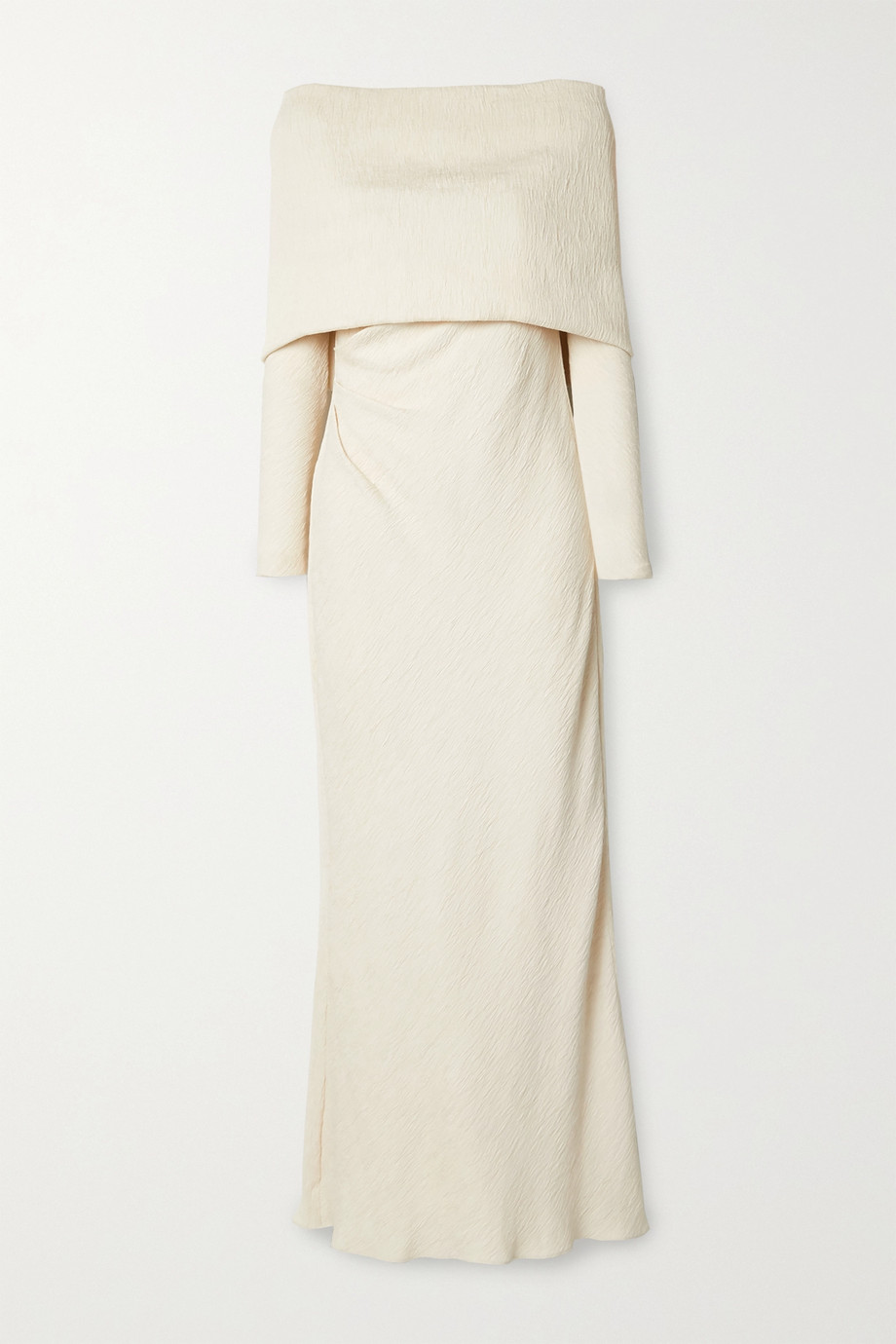 Johanna Ortiz + NET SUSTAIN The Real Truth draped crinkled-crepe maxi dress