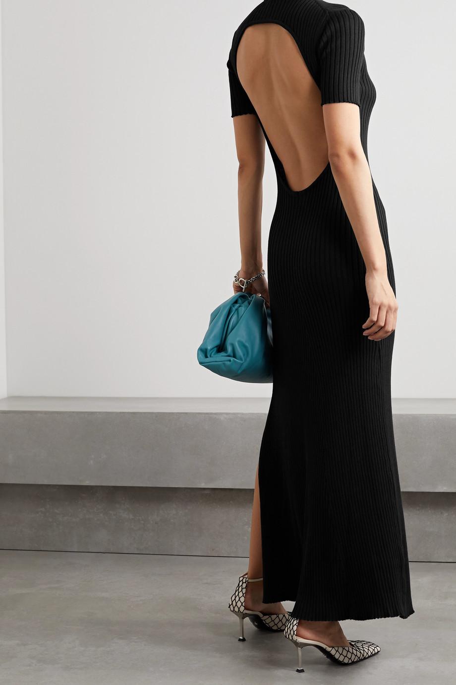 ANNA QUAN Sasha Maxikleid aus gerippter Baumwolle mit Rückenausschnitt