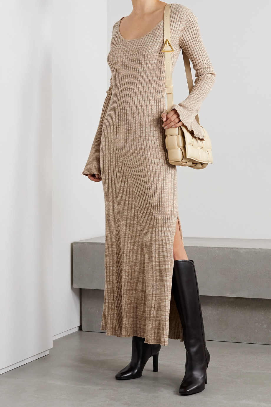 ANNA QUAN Mara ribbed cotton maxi dress