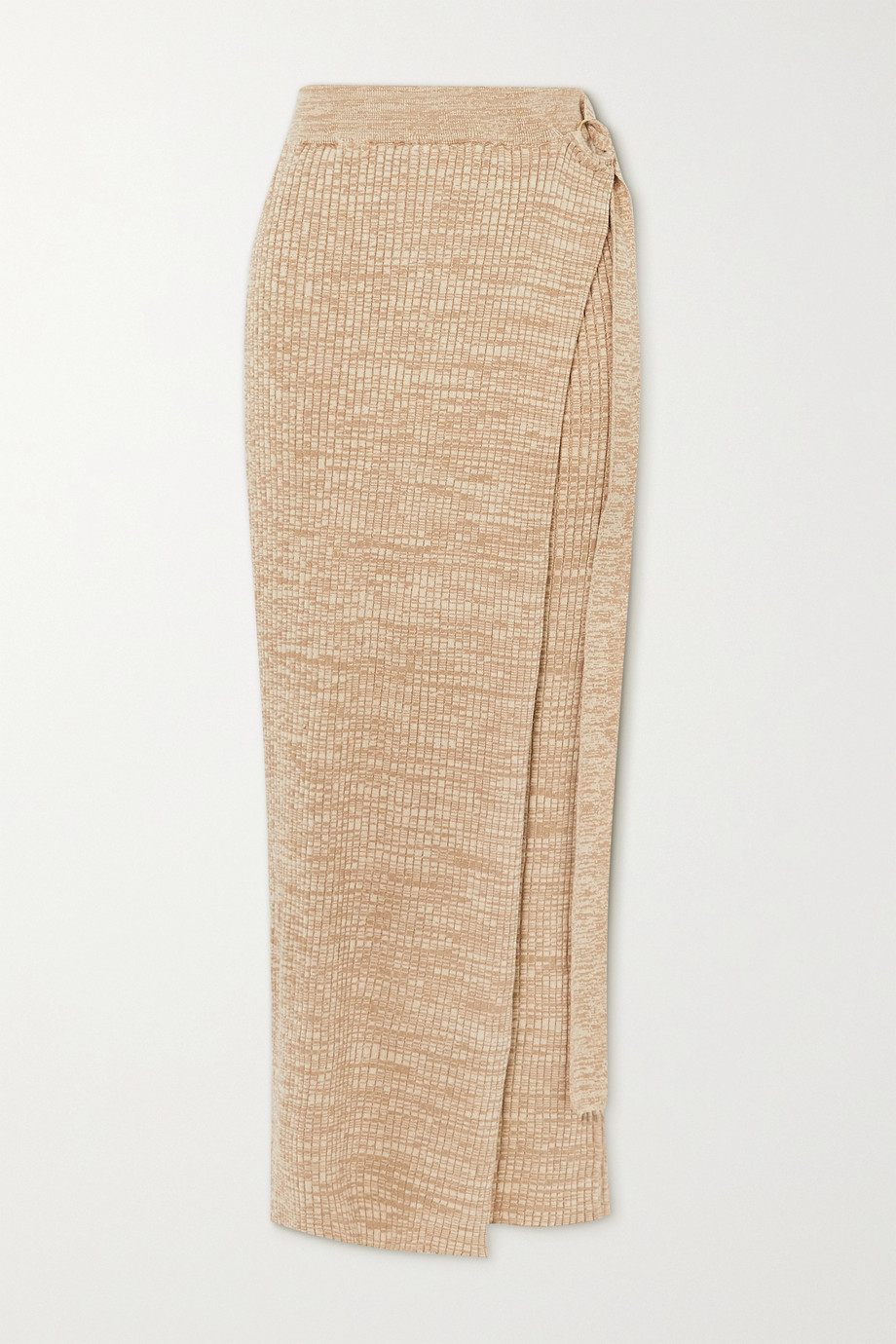 ANNA QUAN Matilde layered ribbed cotton maxi skirt