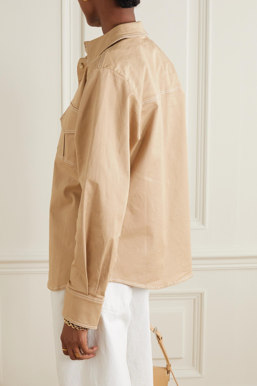 ANNA QUAN Stefano stretch-cotton twill shirt