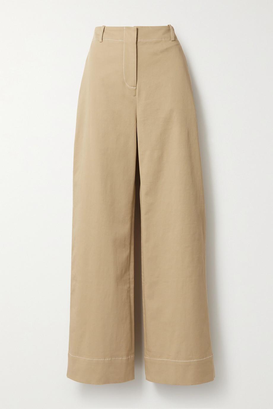 ANNA QUAN Hugo cotton-blend twill straight-leg pants