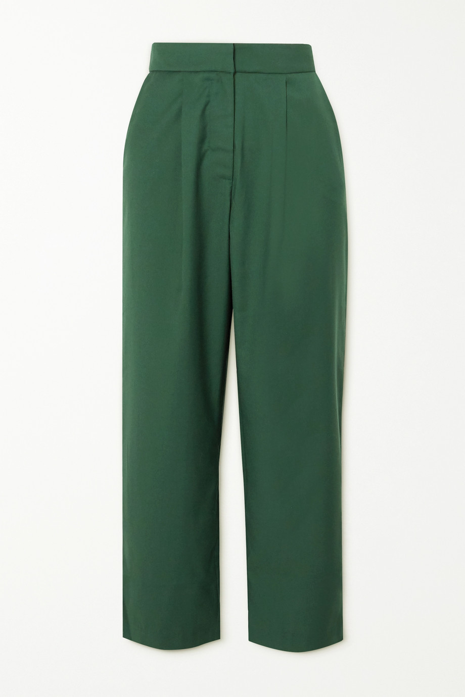 ANNA QUAN Tate cropped twill straight-leg pants