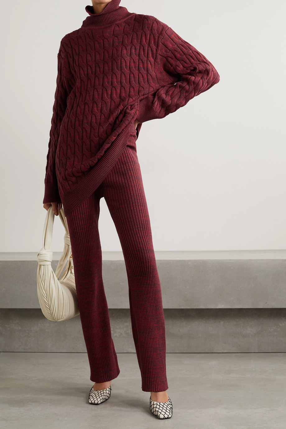 ANNA QUAN Liza ribbed cotton flared pants