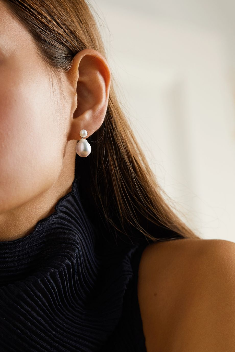 Mizuki Ohrringe aus 14 Karat Gold mit Perlen