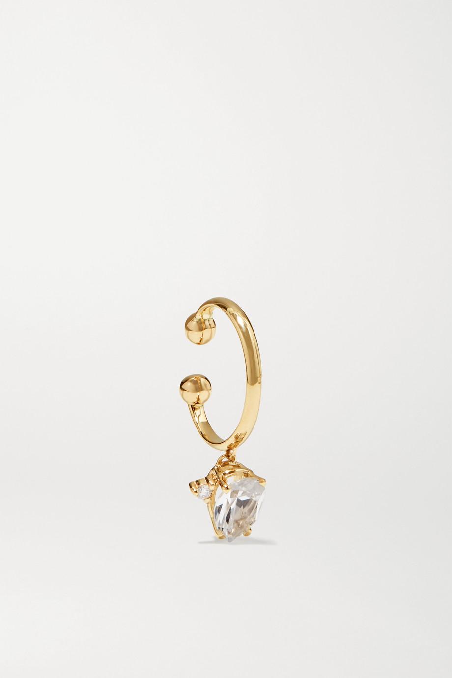 Mizuki 14-karat gold, topaz and diamond ear cuff