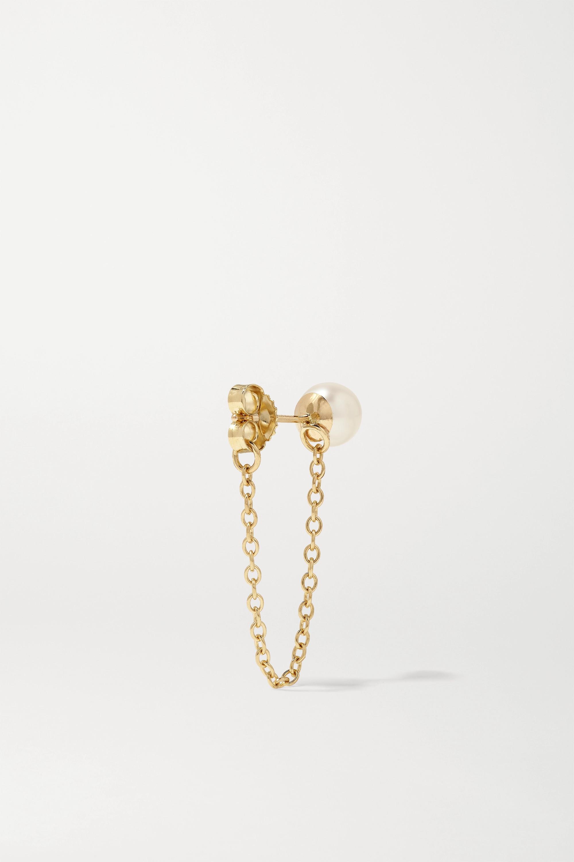 Mizuki 14K 黄金珍珠耳环