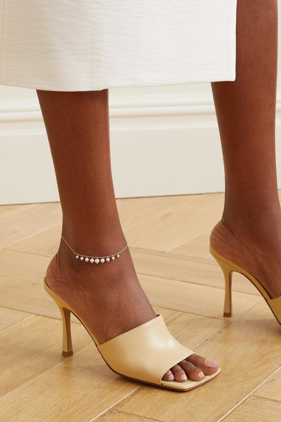 Mizuki 14K 黄金珍珠脚链