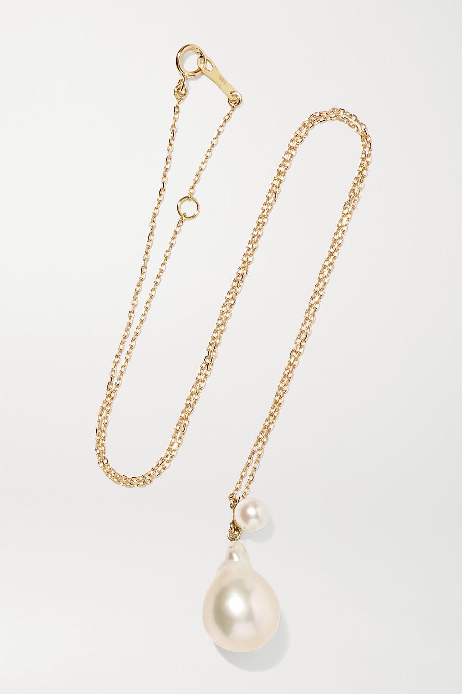 Mizuki 14K 黄金珍珠项链