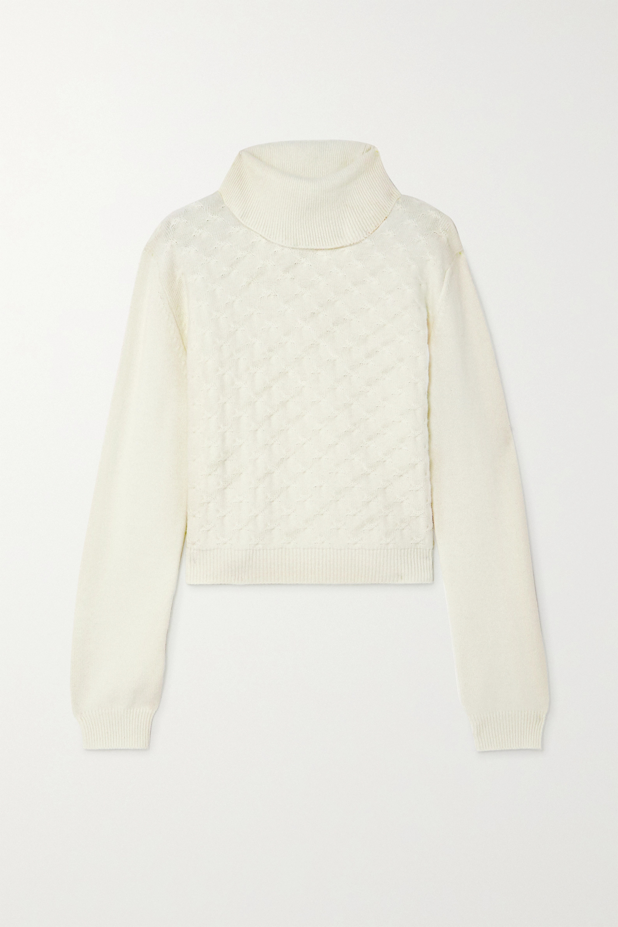 YOOX NET-A-PORTER For The Prince's Foundation Cable-knit cashmere turtleneck sweater