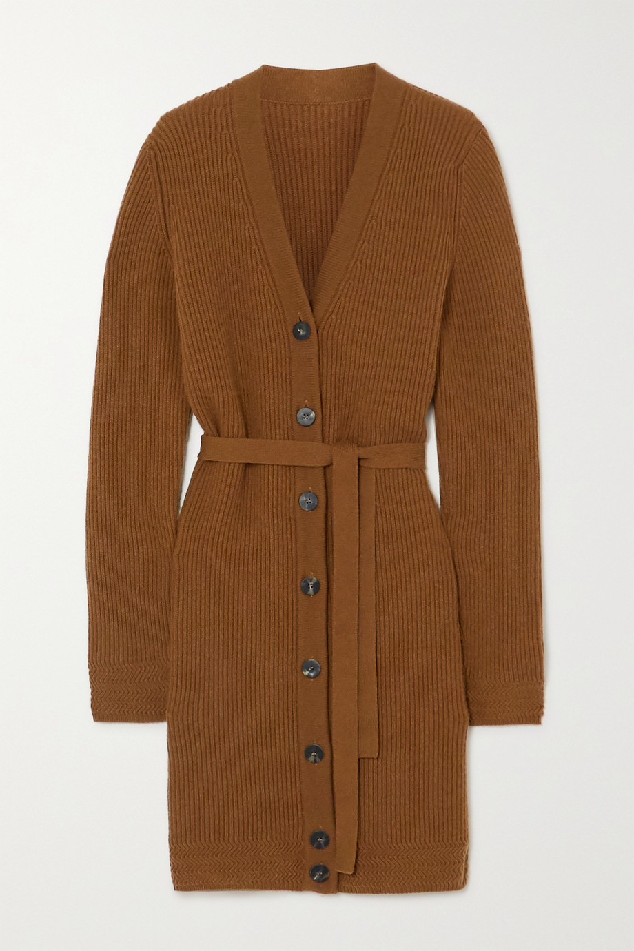 YOOX NET-A-PORTER For The Prince's Foundation Belted ribbed cashmere cardigan