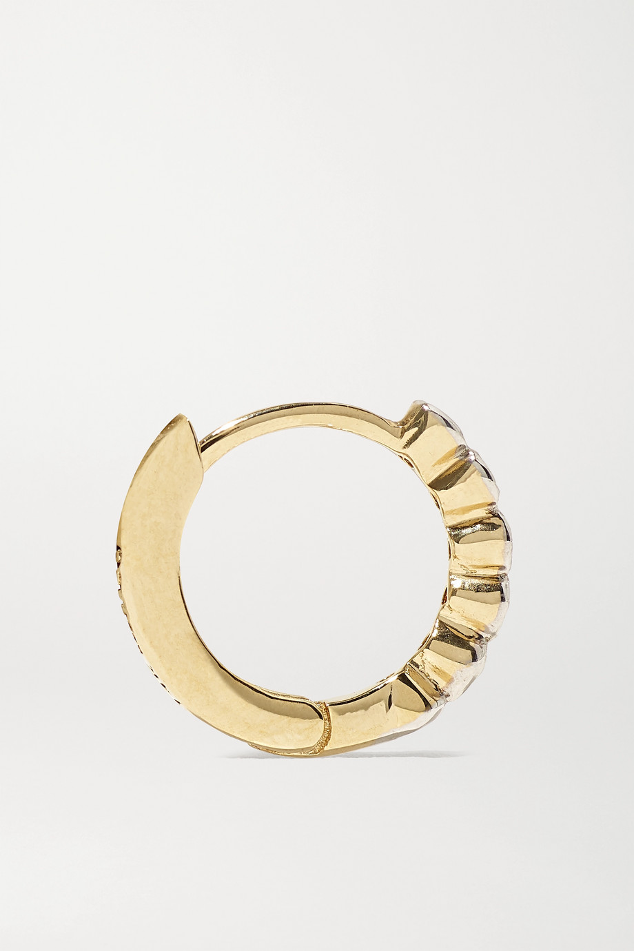 Mateo 14-karat gold diamond hoop earrings