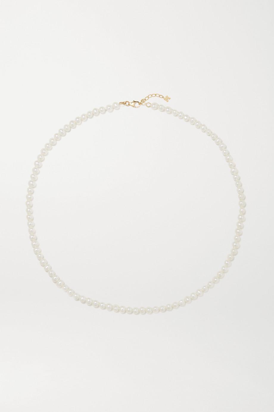 Mateo Perlenkette mit Details aus 14 Karat Gold
