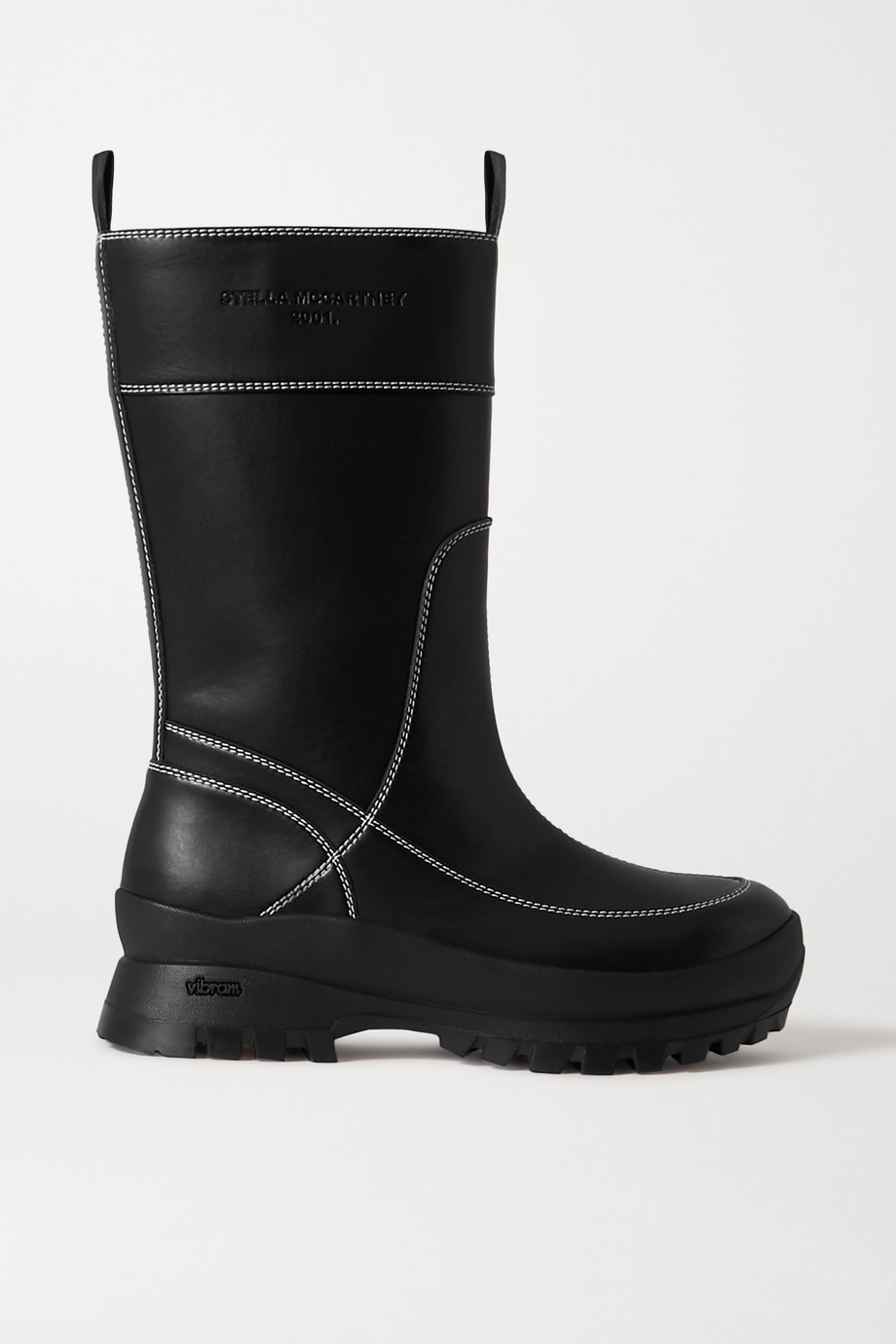 Stella McCartney Trace faux shearling-lined vegetarian leather ankle boots