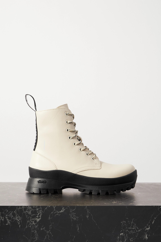 Stella McCartney Trace 罗缎边饰植物性皮革踝靴