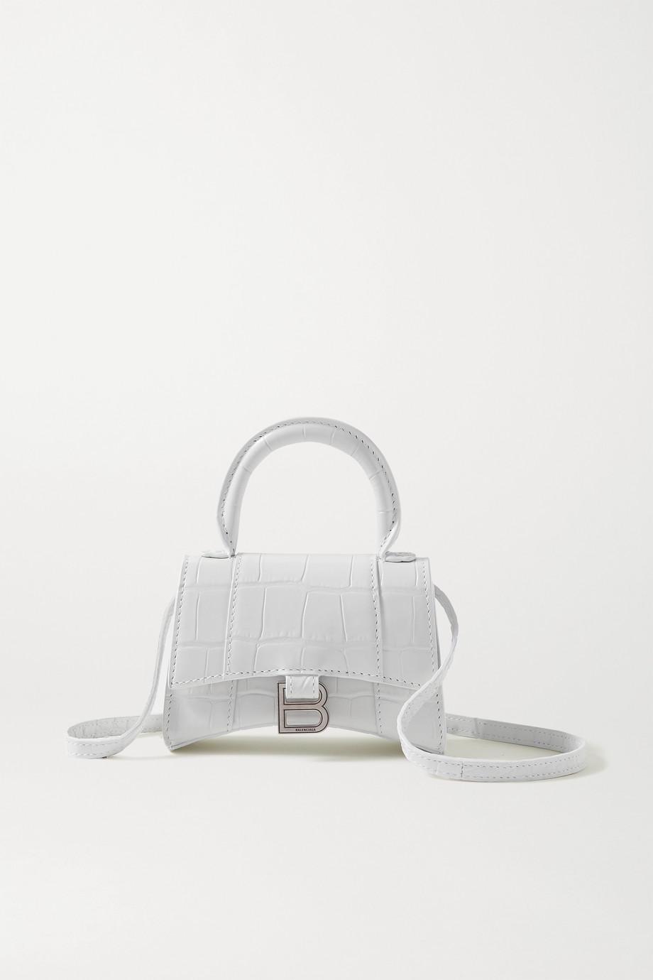 Balenciaga Hourglass nano croc-effect leather tote